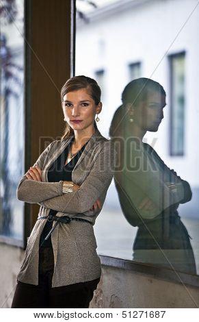 Confident Woman In Urban Setting