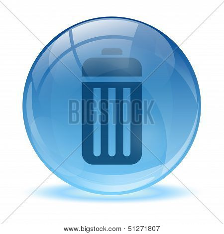 3D Glass Sphere Battery Icon