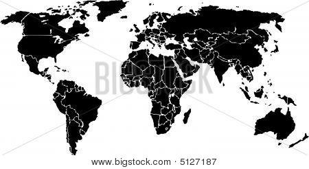 Worldmap Black (vector)