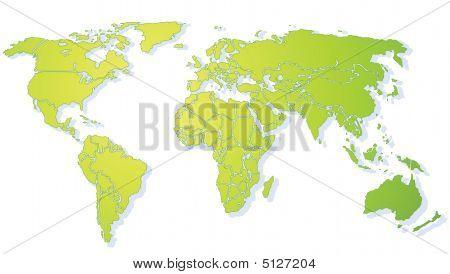 Worldmap Green (xxl)