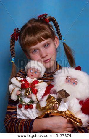 The Girl And Santa Klaus