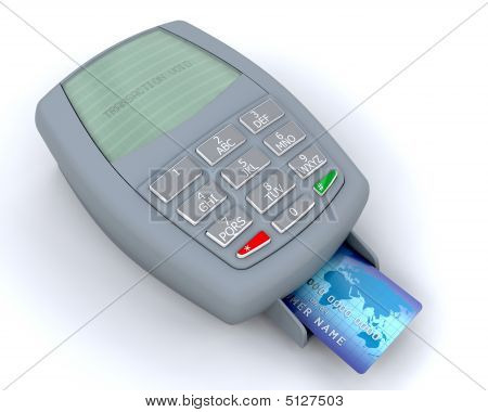 Kreditkarte Maschine