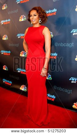 "NEW YORK-SEP 17: Judge and singer Mel B. attends the pre-show red carpet for NBC's ""America's Got Talent"" Season 8 at Radio City Music Hall on September 17, 2013 in New York City."