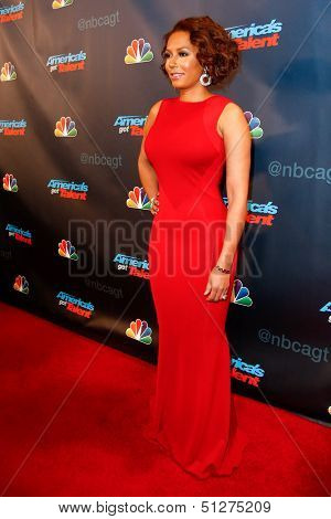 """NEW YORK-SEP 17: Judge and singer Mel B. attends the pre-show red carpet for NBC's """"America's Got Talent"""" Season 8 at Radio City Music Hall on September 17, 2013 in New York City."""