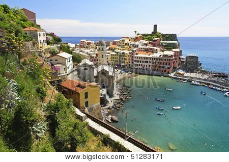 The Vernazza Village Of  Cinque Terre