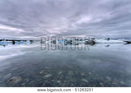 Jokulsarlon Glacial Lagoon in Iceland