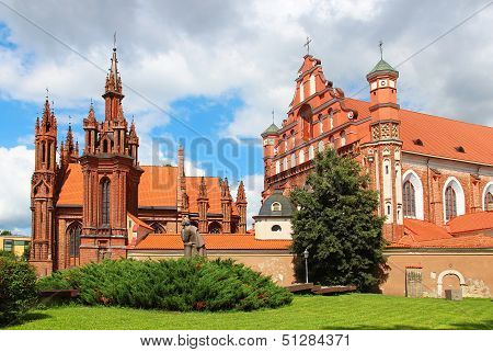 St. Anne's Church And The Church Of St. Francis, Vilnius, Lithuania