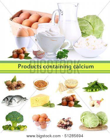 Products containing calcium