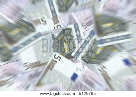 5 Euro Notes Texture Radial Blur