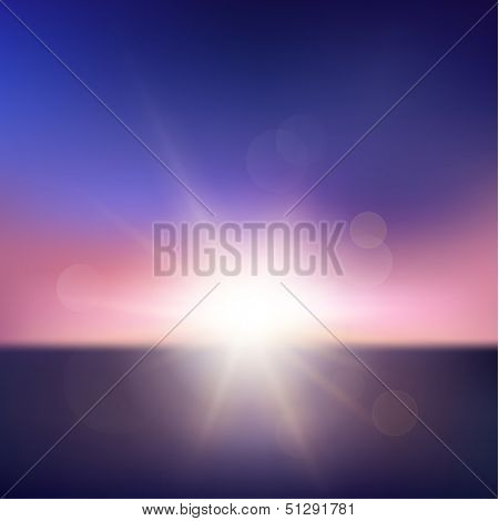 Abstract sunset with defocused lights - eps10