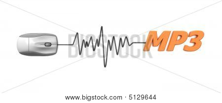 Word Mp3 With Grey Mouse