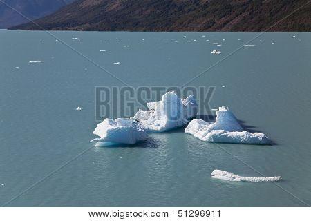 Icebergs At The Perito Moreno Glacier.