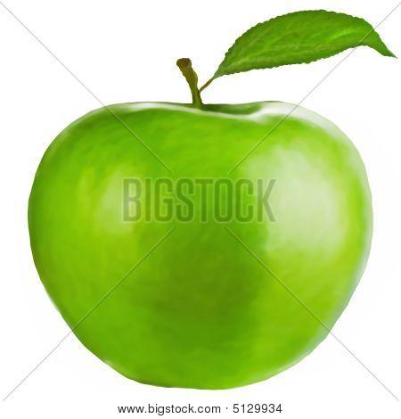 Healthyillustration Of Granny Smith Apple