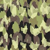 stock photo of gobelin  - Camouflage modern stylish seamless pattern - JPG