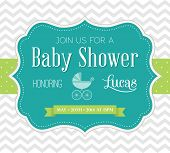 image of chevron  - Baby Shower Invitation - JPG