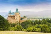 pic of manor  - Towers of beautiful Bojnice castle in Slovakia - JPG