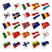 picture of holland flag  - The vector image set of world flags 2 - JPG
