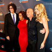 NEW YORK-SEP 17: (L-R) Judges Howard Stern, Mel B., Howie Mandel and Heidi Klum attend pre-show red