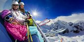 stock photo of ropeway  - Ski lift - JPG