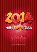 stock photo of happy new year 2014  - Happy new year 2014 - JPG