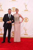 LOS ANGELES - SEP 22:  Alec Baldwin, Ireland Baldwin at the 65th Emmy Awards - Arrivals at Nokia The