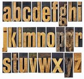 image of letter b  - complete English lowercase alphabet  - JPG