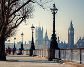 stock photo of british culture  - Big Ben and Houses of parliament in London - JPG