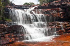 stock photo of canaima  - Waterfall in Jasper Canyon - JPG
