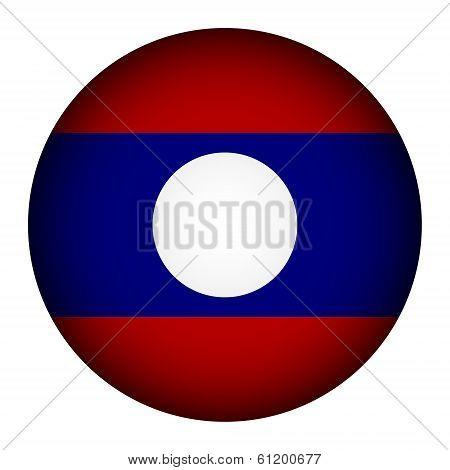 Laos Flag Button.