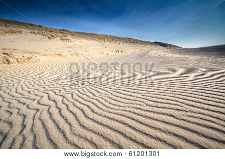 Sand Wave Texture On North Sea Beach