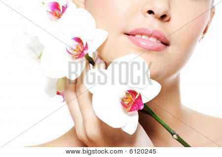 Skincare Of A Beauty Female Lips