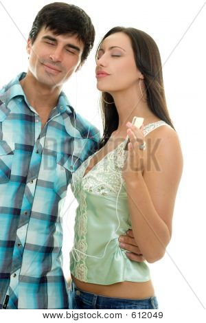 Couple Listening Music