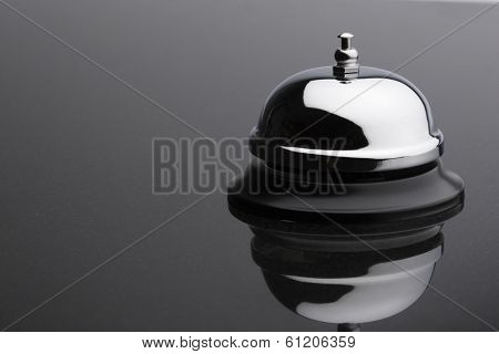 Service Bell on grey background