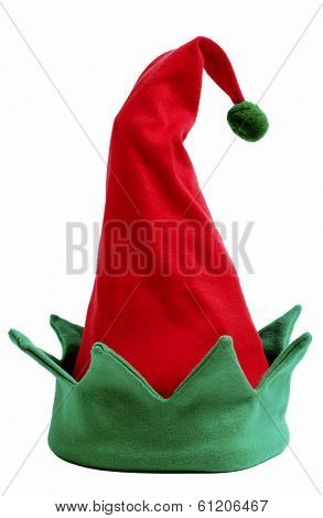 elf hat on white background