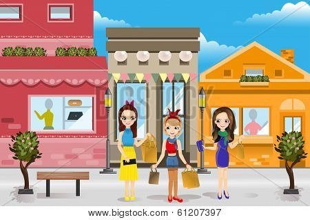 Modern Women Shopping