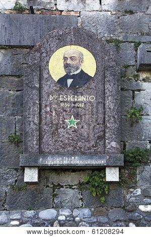 Zamenhof Memorial Plaque