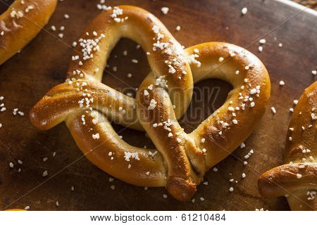Homemade Soft Pretzels With Salt