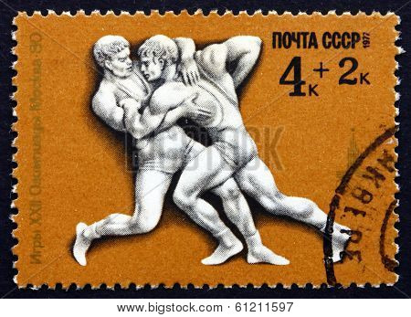 Postage Stamp Russia 1977 Greco-roman Wrestling