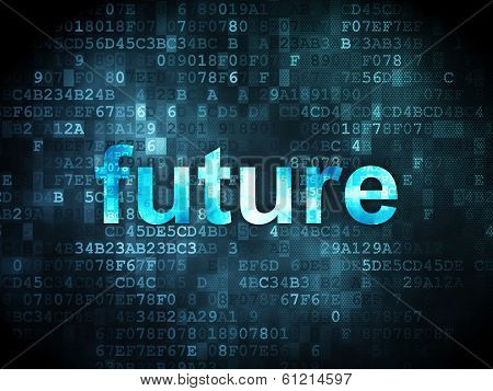Time concept: Future on digital background