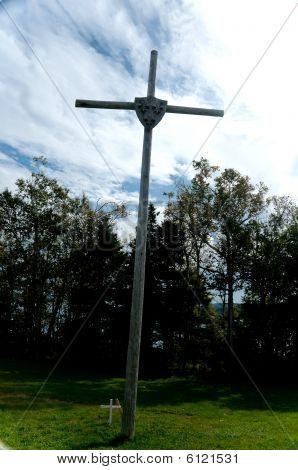 historische hölzernes Kreuz