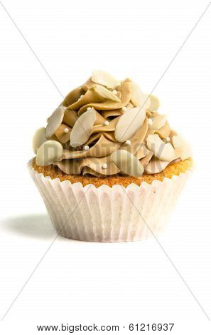 Brown creamed sweet cupcake