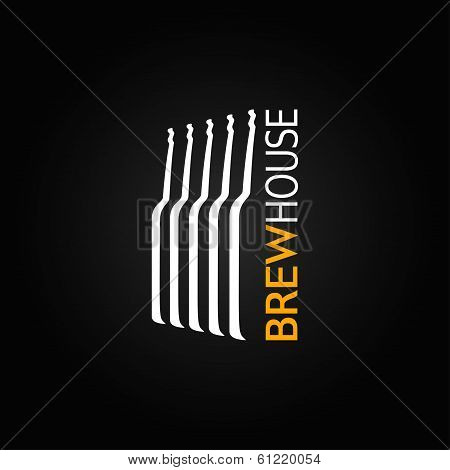 beer glass bottle design background