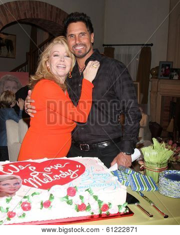 LOS ANGELES - MAR 4:  Melody Thomas Scott, Don Diamont at the Melody Thomas Scott Celebrates 35 Years at the
