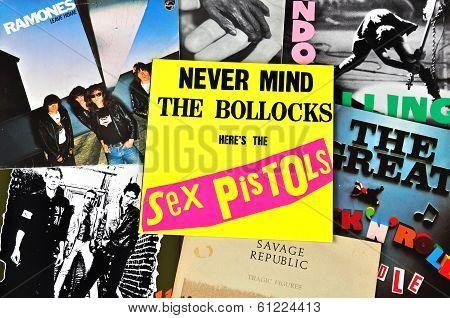 Punk Rock Music Vinyl Records