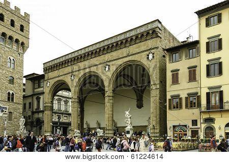Piazza Della Signoria And Palazzo Vecchio