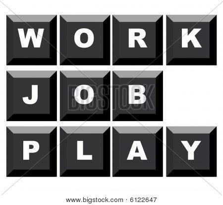 Juego y trabajo de trabajo