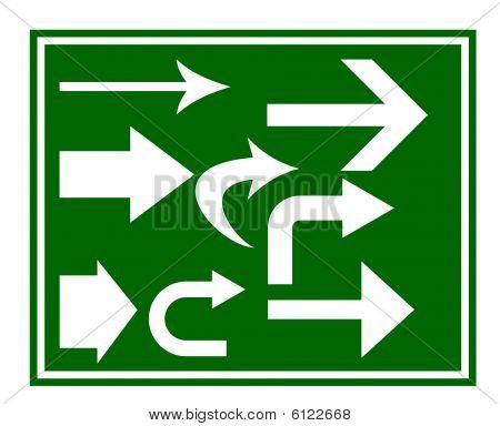 Road Traffic Arrow Signs