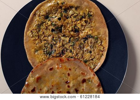 Gobi Parotta, Indian Flat Bread.