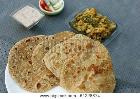 Paratha is a flatbread that originated in India