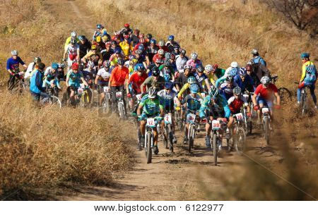 Start Of Mountain Bike Competition